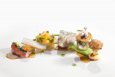 Fish dish from Finnish qualification for Bocuse d'Or