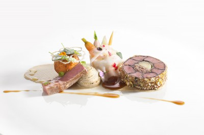 Meat dish from Finnish qualification for Bocuse d'Or